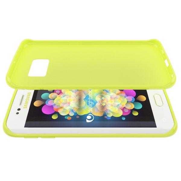 NALIA Handyhülle kompatibel mit Samsung Galaxy S6 Edge, Ultra-Slim TPU Silikon Jelly Case Hülle, Dünne Gummi Schutz-Hülle Skin, Etui Handy-Tasche Schale Back-Cover Smart-Phone Bumper - Neon Grün Gelb – Bild 4