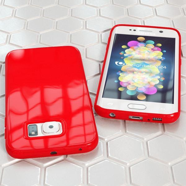 NALIA Handyhülle kompatibel mit Samsung Galaxy S6 Edge Plus, Ultra-Slim TPU Silikon Jelly Case Hülle, Dünne Gummi Schutzhülle Skin, Handy-Tasche Telefon-Schale Back-Cover Smart-Phone Bumper - Rot – Bild 5