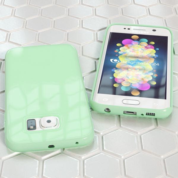 NALIA Handyhülle kompatibel mit Samsung Galaxy S6 Edge Plus, Ultra-Slim TPU Silikon Jelly Case Hülle, Dünne Gummi Schutzhülle Skin, Handy-Tasche Schale Back-Cover Smart-Phone Bumper - Mint Grün – Bild 5