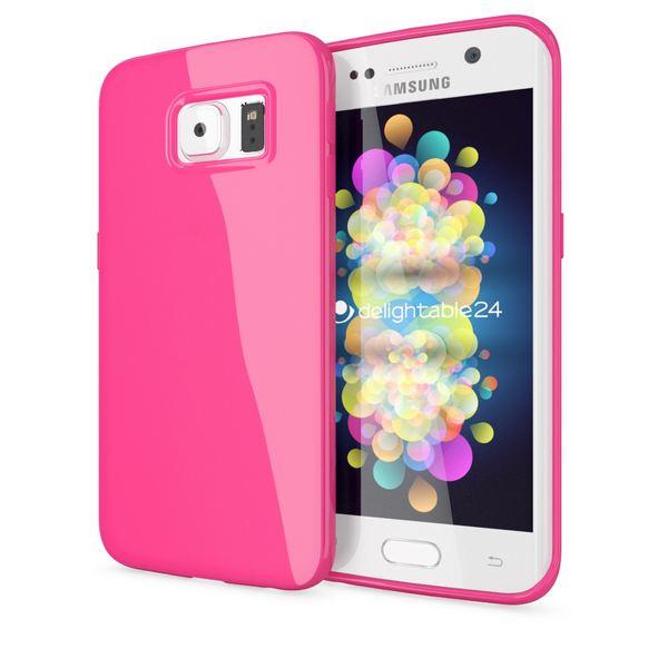 NALIA Handyhülle kompatibel mit Samsung Galaxy S6 Edge Plus, Ultra-Slim TPU Silikon Jelly Case Hülle, Dünne Gummi Schutzhülle Skin, Handy-Tasche Telefon-Schale Back-Cover Smart-Phone Bumper - Pink – Bild 1