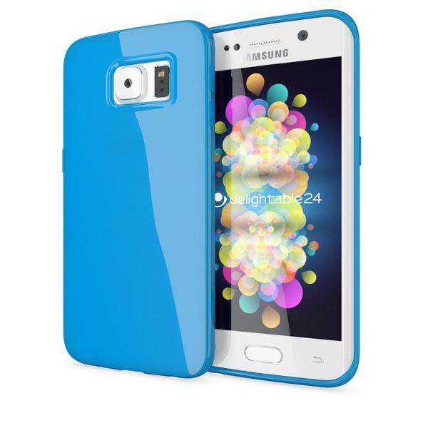 NALIA Handyhülle kompatibel mit Samsung Galaxy S6 Edge Plus, Ultra-Slim TPU Silikon Jelly Case Hülle, Dünne Gummi Schutzhülle Skin, Handy-Tasche Telefon-Schale Back-Cover Smart-Phone Bumper - Blau – Bild 1