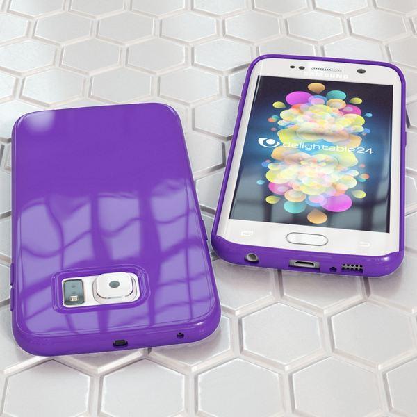 NALIA Handyhülle kompatibel mit Samsung Galaxy S6 Edge Plus, Ultra-Slim TPU Silikon Jelly Case Hülle, Dünne Gummi Schutzhülle Skin, Handy-Tasche Telefon-Schale Back-Cover Smart-Phone Bumper - Lila – Bild 5