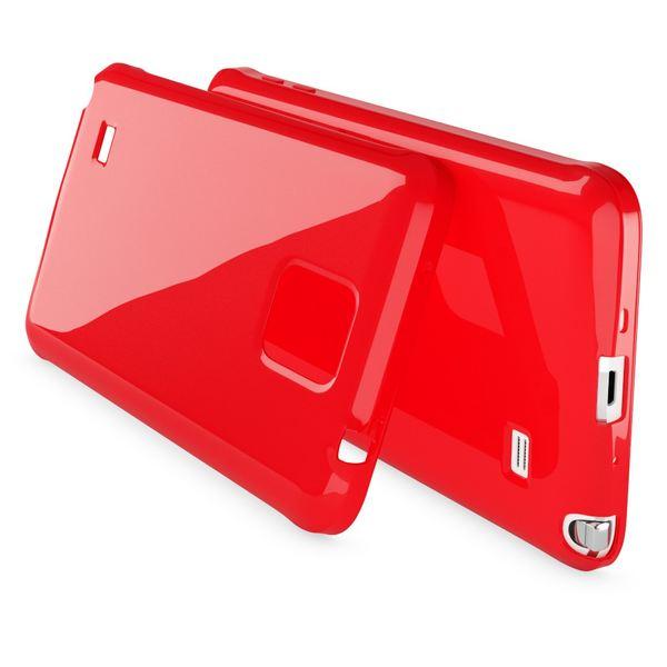 NALIA Handyhülle kompatibel mit Samsung Galaxy Note 4, Ultra-Slim TPU Silikon Jelly Case Hülle Dünn, Cover Gummi Schutz-Hülle Skin Etui Handy-Tasche Schale Thin Back-Cover Smart-Phone Bumper - Rot – Bild 2