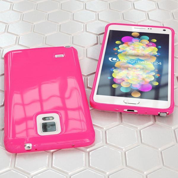 NALIA Handyhülle kompatibel mit Samsung Galaxy Note 4, Ultra-Slim TPU Silikon Jelly Case Hülle Dünn, Cover Gummi Schutz-Hülle Skin Etui Handy-Tasche Schale Thin Back-Cover Smart-Phone Bumper - Pink – Bild 5