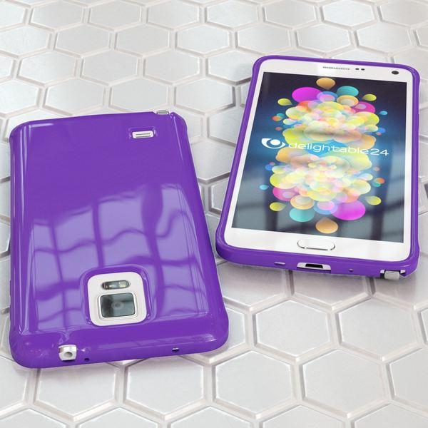 NALIA Handyhülle kompatibel mit Samsung Galaxy Note 4, Ultra-Slim TPU Silikon Jelly Case Hülle Dünn, Cover Gummi Schutz-Hülle Skin Etui Handy-Tasche Schale Thin Back-Cover Smart-Phone Bumper - Lila – Bild 5