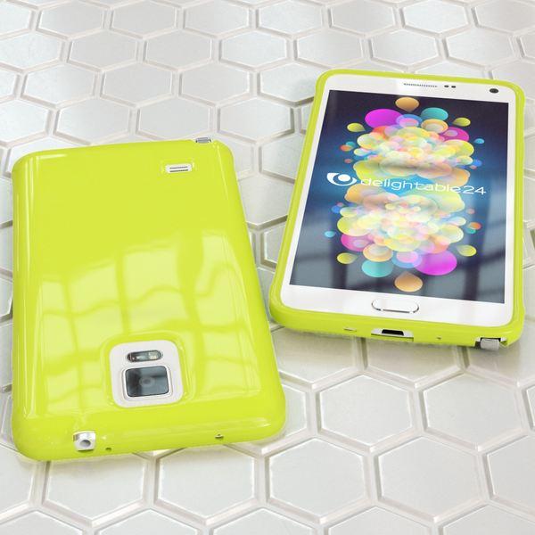 NALIA Handyhülle kompatibel mit Samsung Galaxy Note 4, Ultra-Slim TPU Silikon Jelly Case Hülle Dünn, Cover Gummi Schutz-Hülle Skin Etui Handy-Tasche Back-Cover Smart-Phone Bumper - Neon Grün Gelb – Bild 5
