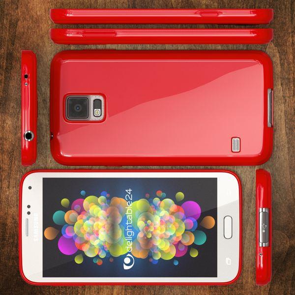 NALIA Handyhülle kompatibel mit Samsung Galaxy S5 S5 Neo, Ultra-Slim TPU Silikon Jelly Case Hülle, Dünne Cover Gummi Schutzhülle Skin, Etui Handy-Tasche Schale Back-Cover Smart-Phone Bumper - Rot – Bild 5