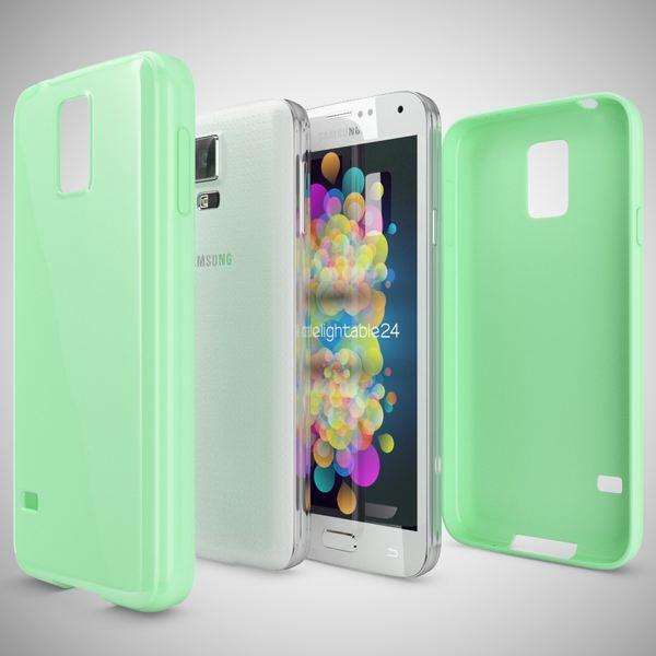 NALIA Handyhülle kompatibel mit Samsung Galaxy S5 S5 Neo, Ultra-Slim TPU Silikon Jelly Case Hülle, Dünne Cover Gummi Schutzhülle Skin, Etui Handy-Tasche Back-Cover Smart-Phone Bumper - Mint Grün – Bild 4