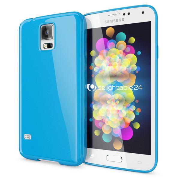 NALIA Handyhülle kompatibel mit Samsung Galaxy S5 S5 Neo, Ultra-Slim TPU Silikon Jelly Case Hülle, Dünne Cover Gummi Schutzhülle Skin, Etui Handy-Tasche Schale Back-Cover Smart-Phone Bumper - Blau – Bild 1