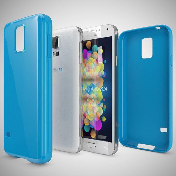 NALIA Handyhülle kompatibel mit Samsung Galaxy S5 S5 Neo, Ultra-Slim TPU Silikon Jelly Case Hülle, Dünne Cover Gummi Schutzhülle Skin, Etui Handy-Tasche Schale Back-Cover Smart-Phone Bumper - Blau – Bild 4