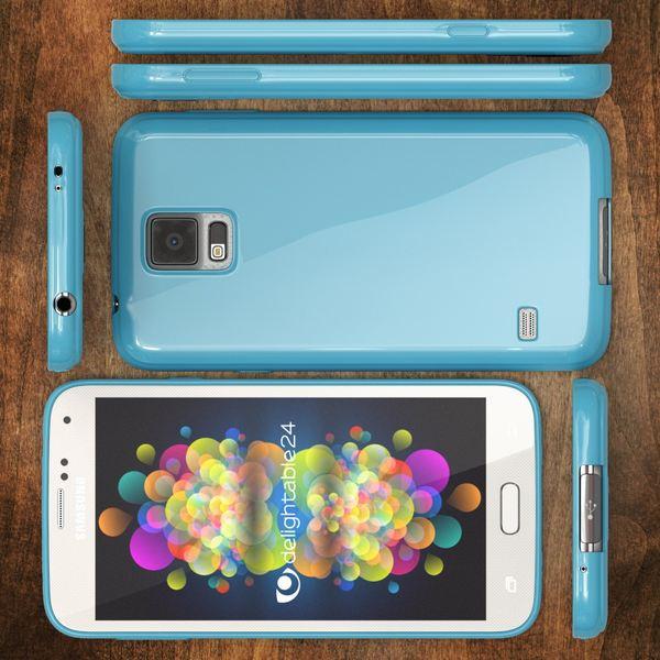 NALIA Handyhülle kompatibel mit Samsung Galaxy S5 S5 Neo, Ultra-Slim TPU Silikon Jelly Case Hülle, Dünne Cover Gummi Schutzhülle Skin, Etui Handy-Tasche Back-Cover Smart-Phone Bumper - Hell Blau – Bild 5