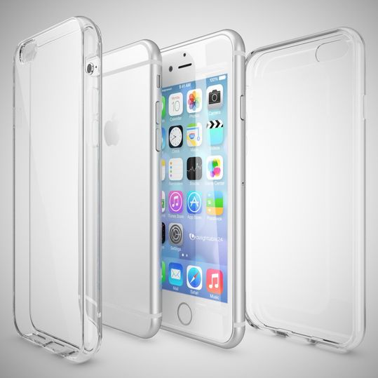 iPhone 6 6S Hülle Handyhülle von NICA, Slim Silikon Motiv Case Crystal Schutzhülle Dünn Durchsichtig, Etui Handy-Tasche Back-Cover Transparent Bumper für Apple iPhone 6S 6 - Transparent – Bild 4