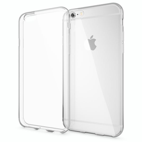 NALIA Handyhülle für iPhone 6 Plus 6S Plus, Ultra-Slim TPU Silikon Jelly Case, Dünnes Cover Gummi Schutz-Hülle Skin, Handy-Tasche Backcover Bumper für Apple iPhone 6S Plus 6+ - Transparent – Bild 1
