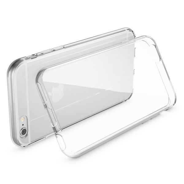 NALIA Handyhülle kompatibel mit iPhone 6 Plus 6S Plus, Ultra-Slim TPU Silikon Jelly Case, Dünne Cover Gummi Schutz-Hülle Skin, Handy-Tasche Schale Back-Cover Thin-Fit Smart-Phone Bumper - Transparent – Bild 2