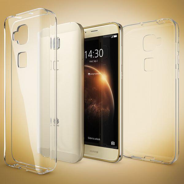 NALIA Handyhülle für Huawei G8 GX8, Soft Slim TPU Silikon Case Cover Hülle Crystal Clear Schutzhülle Dünn Durchsichtig, Etui Handy-Tasche Backcover Transparent, Phone Schutz Bumper für Huawei G-8 GX-8 – Bild 5