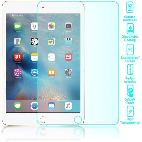 NALIA Schutzglas für Apple iPad Mini 4, Full-Cover Displayschutz Tablet-Folie, 9H gehärtete Glas-Schutzfolie Bildschirm-Abdeckung, Schutz-Film HD Screen Protector Tempered Glass - Transparent – Bild 2