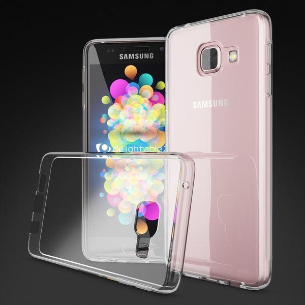 NALIA Handyhülle kompatibel mit Samsung Galaxy A3 2016, Slim Silikon Motiv Case Cover Hülle Crystal Schutzhülle Dünn Durchsichtig, Etui Handy-Tasche Schale Back-Cover Smart-Phone Bumper - Transparent – Bild 4