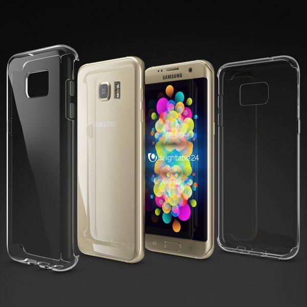 NALIA Handyhülle kompatibel mit Samsung Galaxy S7 Edge, Slim Silikon Motiv Case Hülle Cover Crystal Schutzhülle Dünn Durchsichtig, Etui Handy-Tasche Schale Back-Cover Smart-Phone Bumper - Transparent – Bild 6
