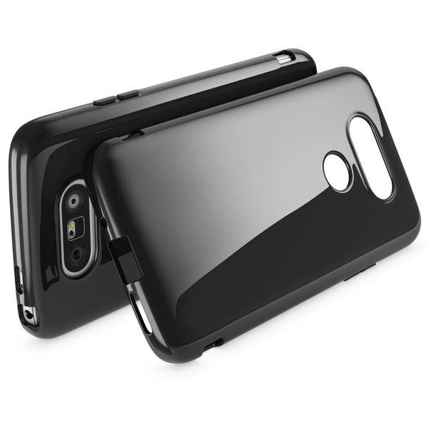 NALIA Handyhülle für LG G5, Ultra-Slim Silikon Case Cover, Dünne Crystal Schutzhülle, Etui Handy-Tasche Back-Cover Phone Bumper, TPU Gummihülle für LG-G5 Smartphone - Schwarz – Bild 2