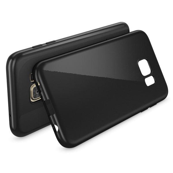 NALIA Handyhülle kompatibel mit Samsung Galaxy S7 Edge, Ultra-Slim TPU Silikon Hülle Jelly Case, Dünne Gummi Schutzhülle Skin Etui Handy-Tasche Schale Thin-Fit Back-Cover Smart-Phone Bumper - Schwarz – Bild 2