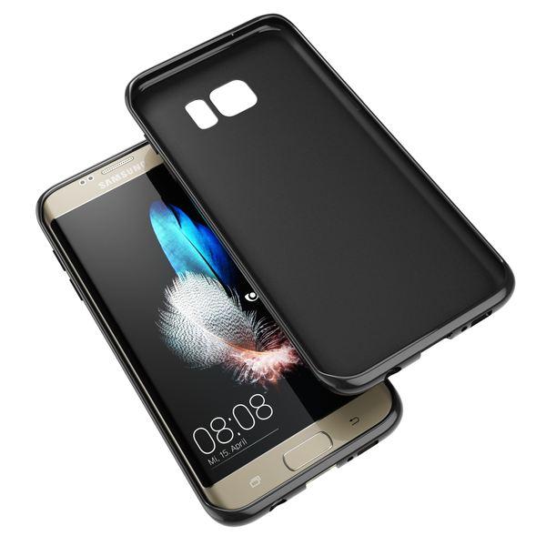 NALIA Handyhülle kompatibel mit Samsung Galaxy S7 Edge, Ultra-Slim TPU Silikon Hülle Jelly Case, Dünne Gummi Schutzhülle Skin Etui Handy-Tasche Schale Thin-Fit Back-Cover Smart-Phone Bumper - Schwarz – Bild 3