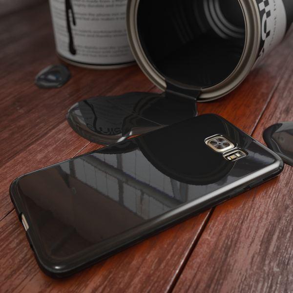 NALIA Handyhülle kompatibel mit Samsung Galaxy S7 Edge, Ultra-Slim TPU Silikon Hülle Jelly Case, Dünne Gummi Schutzhülle Skin Etui Handy-Tasche Schale Thin-Fit Back-Cover Smart-Phone Bumper - Schwarz – Bild 4