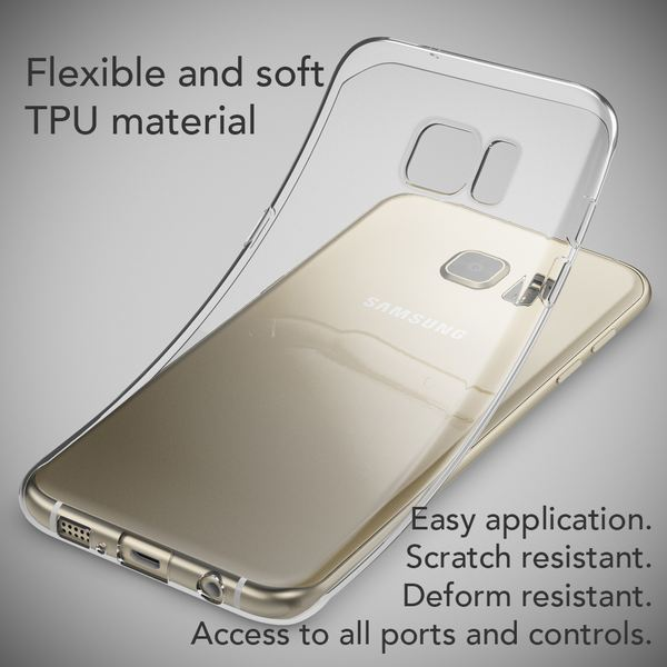 NALIA Handyhülle kompatibel mit Samsung Galaxy S7 Edge, Ultra-Slim TPU Silikon Hülle Jelly Case, Dünne Gummi Schutzhülle Skin, Etui Handy-Tasche Thin-Fit Back-Cover Smart-Phone Bumper - Mint Grün – Bild 5