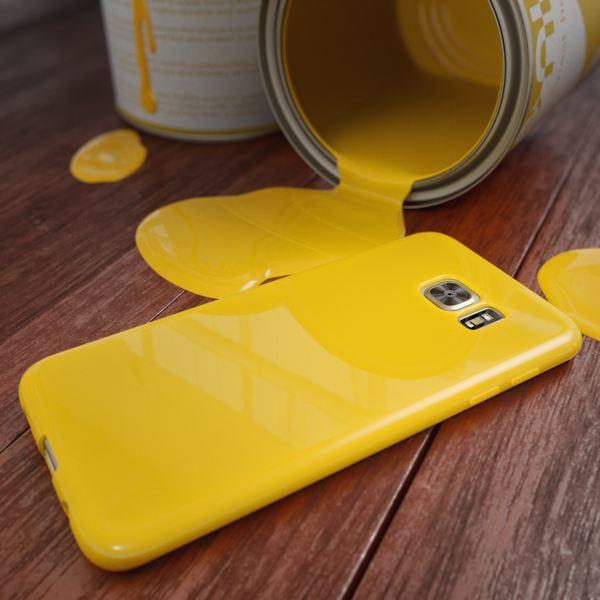 NALIA Handyhülle kompatibel mit Samsung Galaxy S7 Edge, Ultra-Slim TPU Silikon Hülle Jelly Case, Dünne Gummi Schutzhülle Skin, Etui Handy-Tasche Schale Thin-Fit Back-Cover Smart-Phone Bumper - Gelb – Bild 4