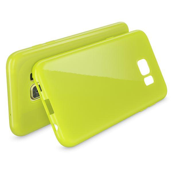 NALIA Handyhülle kompatibel mit Samsung Galaxy S7 Edge, Ultra-Slim TPU Silikon Hülle Jelly Case, Dünne Gummi Schutzhülle Skin, Etui Handy-Tasche Thin Back-Cover Smart-Phone Bumper - Neon Grün Gelb – Bild 2