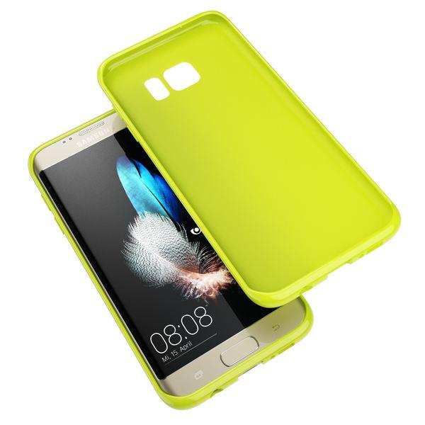 NALIA Handyhülle kompatibel mit Samsung Galaxy S7 Edge, Ultra-Slim TPU Silikon Hülle Jelly Case, Dünne Gummi Schutzhülle Skin, Etui Handy-Tasche Thin Back-Cover Smart-Phone Bumper - Neon Grün Gelb – Bild 3