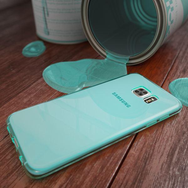 NALIA Handyhülle kompatibel mit Samsung Galaxy S7 Edge, Ultra-Slim Silikon Case Hülle Crystal Schutzhülle Dünn Durchsichtig Handy-Tasche Schale Thin Back-Cover Smart-Phone Bumper - Türkis Transparent – Bild 4