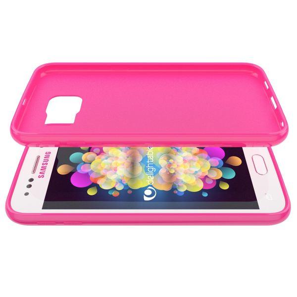 NALIA Handyhülle kompatibel mit Samsung Galaxy S7, Ultra-Slim TPU Silikon Jelly Case Hülle, Dünne Cover Gummi Schutzhülle Skin, Etui Handy-Tasche Schale Thin-Fit Back-Cover Smart-Phone Bumper - Pink – Bild 4