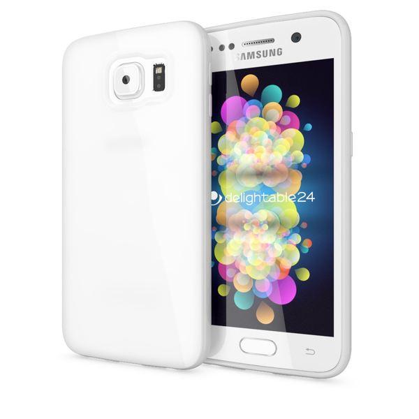 NALIA Handyhülle kompatibel mit Samsung Galaxy S7, Ultra-Slim TPU Silikon Jelly Case Hülle, Dünne Cover Gummi Schutzhülle Skin, Etui Handy-Tasche Schale Thin-Fit Back-Cover Smart-Phone Bumper - Weiß – Bild 1
