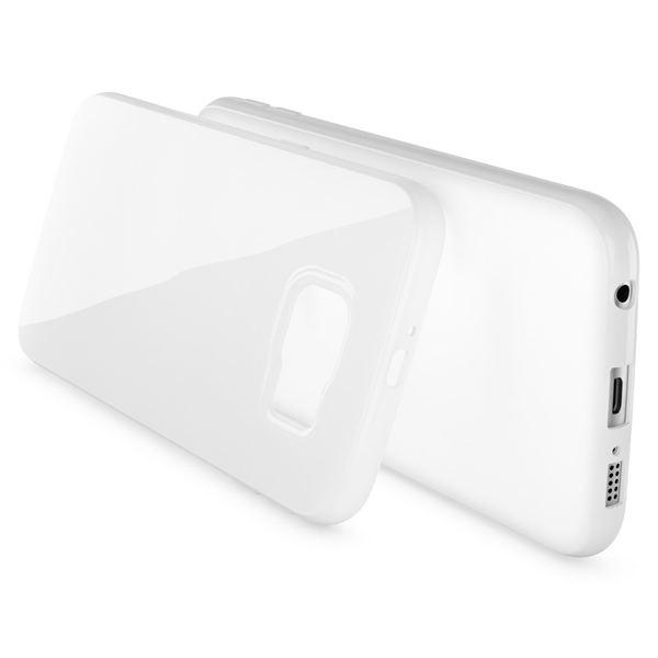 NALIA Handyhülle kompatibel mit Samsung Galaxy S7, Ultra-Slim TPU Silikon Jelly Case Hülle, Dünne Cover Gummi Schutzhülle Skin, Etui Handy-Tasche Schale Thin-Fit Back-Cover Smart-Phone Bumper - Weiß – Bild 2