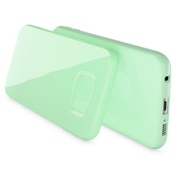 NALIA Handyhülle kompatibel mit Samsung Galaxy S7, Ultra-Slim TPU Silikon Jelly Case Hülle, Dünne Cover Gummi Schutzhülle Skin, Etui Handy-Tasche Schale Thin Back-Cover Smart-Phone Bumper - Mint Grün – Bild 2