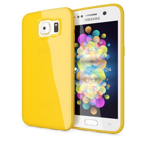 NALIA Handyhülle kompatibel mit Samsung Galaxy S7, Ultra-Slim TPU Silikon Jelly Case Hülle, Dünne Cover Gummi Schutzhülle Skin, Etui Handy-Tasche Schale Thin-Fit Back-Cover Smart-Phone Bumper - Gelb – Bild 1