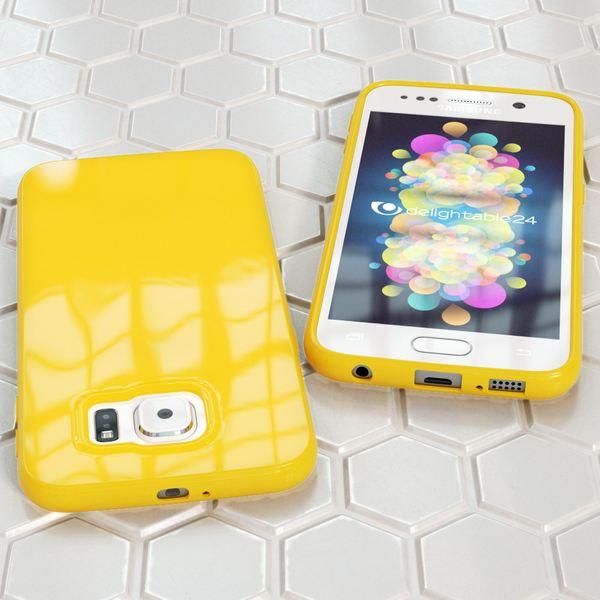 NALIA Handyhülle kompatibel mit Samsung Galaxy S7, Ultra-Slim TPU Silikon Jelly Case Hülle, Dünne Cover Gummi Schutzhülle Skin, Etui Handy-Tasche Schale Thin-Fit Back-Cover Smart-Phone Bumper - Gelb – Bild 5