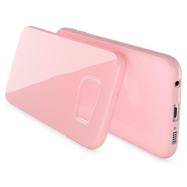 NALIA Handyhülle kompatibel mit Samsung Galaxy S7, Ultra-Slim TPU Silikon Jelly Case Hülle, Dünne Cover Gummi Schutzhülle Skin, Etui Handy-Tasche Schale Thin-Fit Back-Cover Smart-Phone Bumper - Rosa – Bild 2