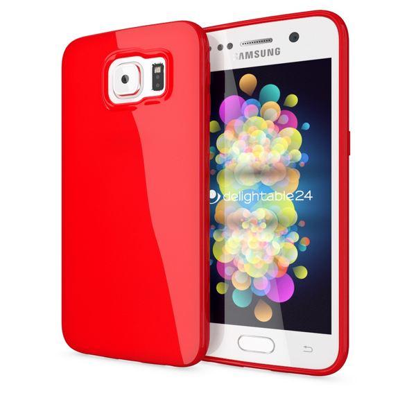 NALIA Handyhülle kompatibel mit Samsung Galaxy S7, Ultra-Slim TPU Silikon Jelly Case Hülle, Dünne Cover Gummi Schutzhülle Skin, Etui Handy-Tasche Schale Thin-Fit Back-Cover Smart-Phone Bumper - Rot – Bild 1