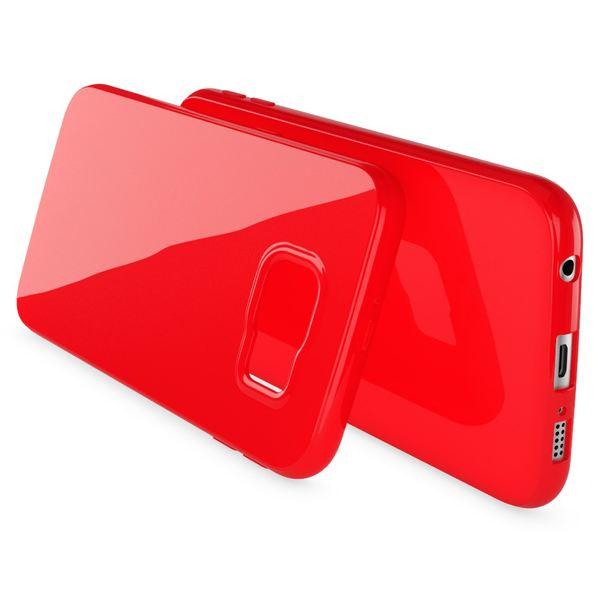 NALIA Handyhülle kompatibel mit Samsung Galaxy S7, Ultra-Slim TPU Silikon Jelly Case Hülle, Dünne Cover Gummi Schutzhülle Skin, Etui Handy-Tasche Schale Thin-Fit Back-Cover Smart-Phone Bumper - Rot – Bild 2