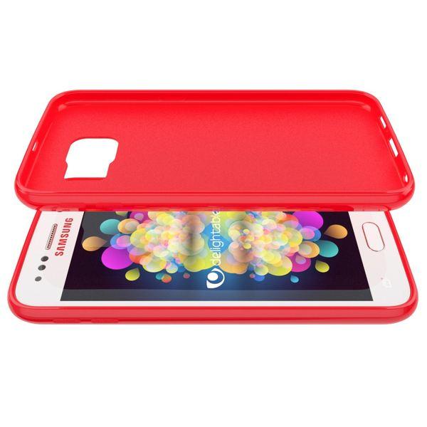 NALIA Handyhülle kompatibel mit Samsung Galaxy S7, Ultra-Slim TPU Silikon Jelly Case Hülle, Dünne Cover Gummi Schutzhülle Skin, Etui Handy-Tasche Schale Thin-Fit Back-Cover Smart-Phone Bumper - Rot – Bild 4