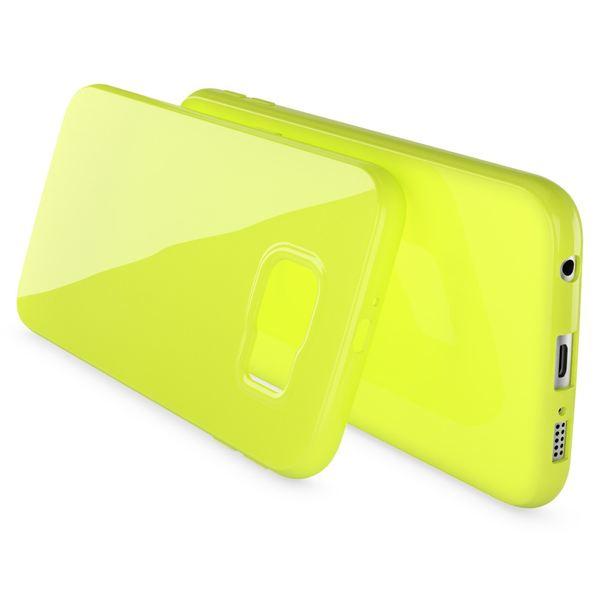 NALIA Handyhülle kompatibel mit Samsung Galaxy S7, Ultra-Slim TPU Silikon Jelly Case Hülle, Dünne Cover Gummi Schutzhülle Skin, Etui Handy-Tasche Schale Back-Cover Smart-Phone Bumper - Neon Grün Gelb – Bild 2