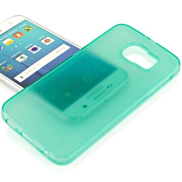 NALIA Handyhülle kompatibel mit Samsung Galaxy S7, Ultra-Slim Silikon Case Cover Hülle Crystal Schutzhülle Dünn Durchsichtig, Etui Handy-Tasche Back-Cover Smart-Phone Bumper - Türkis Transparent – Bild 2