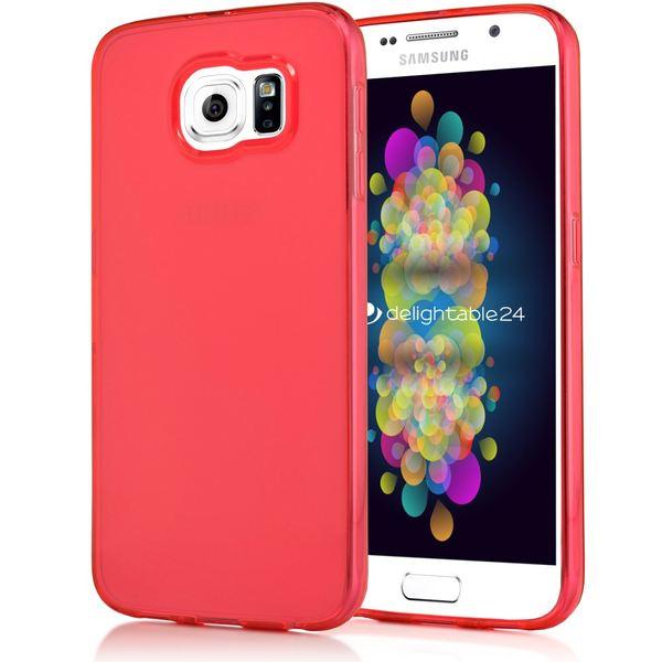 NALIA Handyhülle kompatibel mit Samsung Galaxy S7, Ultra-Slim Silikon Case Cover Hülle Crystal Schutzhülle Dünn Durchsichtig, Etui Handy-Tasche Schale Back-Cover Smart-Phone Bumper - Rot Transparent – Bild 1