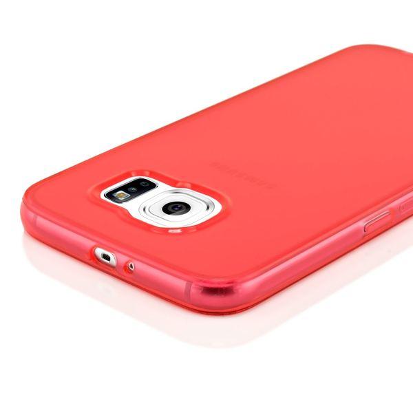 NALIA Handyhülle kompatibel mit Samsung Galaxy S7, Ultra-Slim Silikon Case Cover Hülle Crystal Schutzhülle Dünn Durchsichtig, Etui Handy-Tasche Schale Back-Cover Smart-Phone Bumper - Rot Transparent – Bild 3