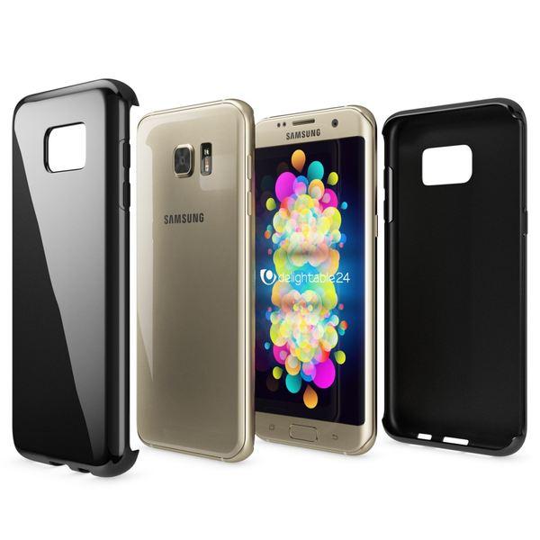 NALIA Handyhülle kompatibel mit Samsung Galaxy S7 Edge, Ultra-Slim Silikon Case Hülle, Dünne Crystal Schutzhülle Etui Handy-Tasche Schale Back-Cover Bumper, TPU Smart-Phone Gummihülle - Schwarz – Bild 6
