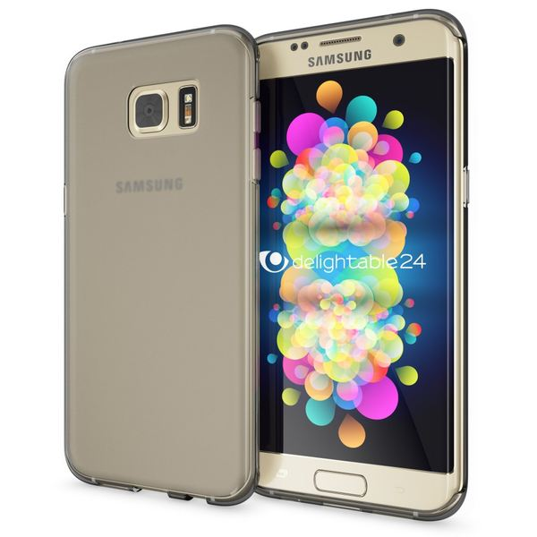 NALIA Handyhülle kompatibel mit Samsung Galaxy S7 Edge, Ultra-Slim Silikon Case Hülle, Dünne Crystal Schutzhülle Etui Handy-Tasche Back-Cover Bumper, TPU Smart-Phone Gummihülle - Transparent Grau