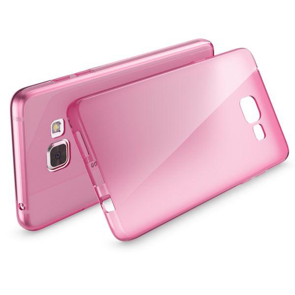 NALIA Handyhülle kompatibel mit Samsung Galaxy A5 2016, Ultra-Slim Silikon Case Hülle, Dünne Crystal Schutzhülle Etui Handy-Tasche Back-Cover Bumper, TPU Smart-Phone Gummihülle - Transparent Pink – Bild 2