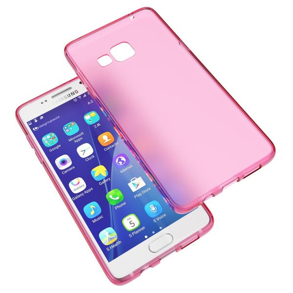 NALIA Handyhülle kompatibel mit Samsung Galaxy A5 2016, Ultra-Slim Silikon Case Hülle, Dünne Crystal Schutzhülle Etui Handy-Tasche Back-Cover Bumper, TPU Smart-Phone Gummihülle - Transparent Pink – Bild 6