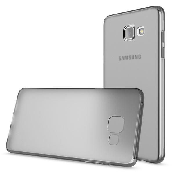 NALIA Handyhülle kompatibel mit Samsung Galaxy A5 2016, Ultra-Slim Silikon Case Hülle, Dünne Crystal Schutzhülle Etui Handy-Tasche Back-Cover Bumper, TPU Smart-Phone Gummihülle - Transparent Grau – Bild 4